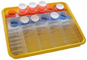 21 Blistersäckchen Tablett